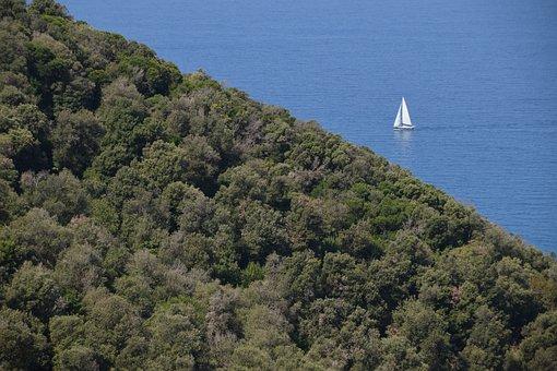 Italy, Tuscany, Away Populonia, Sea, Nature, Ship