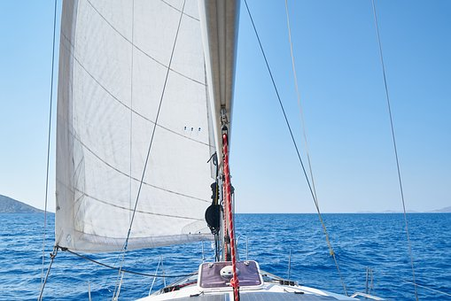 Sailboat, Go, Wind, Marine, Wave, Nature, Water