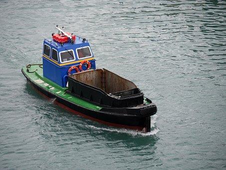 Garbage Ship, Ship, Port, Shipping, Water, Boat