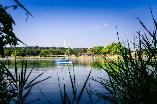 Lake, Boat, Summer, Idyll, Water, Sky, Rest, Landscape