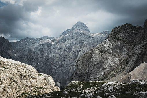 Mountains, Rocks, Storm, Mounttriglav