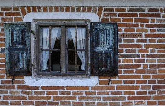 Window, Shutter, Facade, Wall, Brick, House, Building