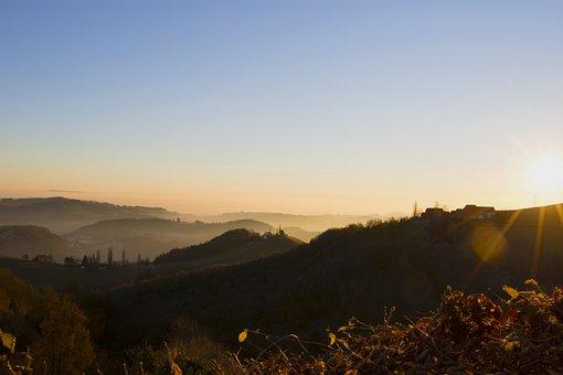 Landscape, Nature, Forest, Sky, Sunrise, Idyllic, Fog