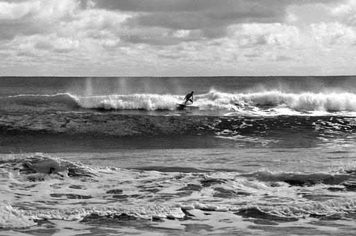 Surfer, Person, Waves, Ocean, Sea, Beach, Surf, Sport