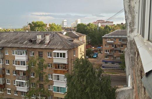 View, Window, Slum, Clouds, Syktyvkar, Residential