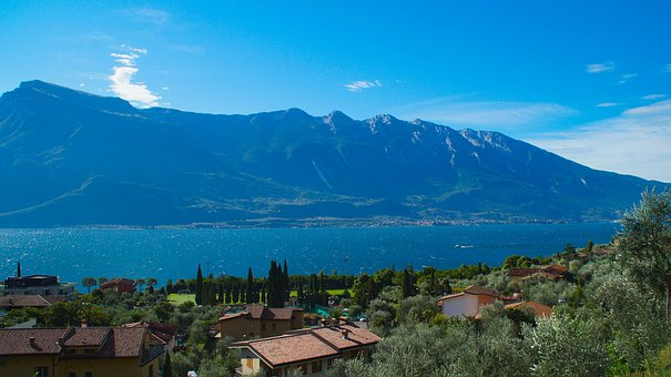 Italy, Garda, Mountains, View, Tourism, Landscape
