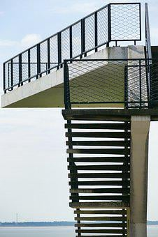 Stairs, View, Architecture, Observation Tower