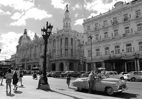 Havana, Cuba, Antique, Classical, City, Cars