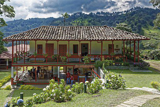 Colombia, Finca, Building, Architecture, Colonial Style