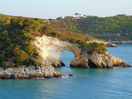 Puglia, Vieste, Gargano, Sea, Italy, Picturesque, Beach