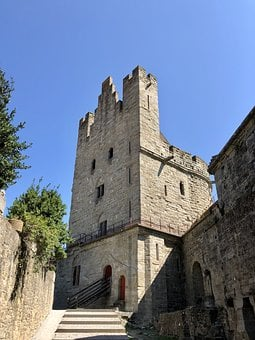 Tower, Medieval, Pierre, Carcassonne, Occitania, France