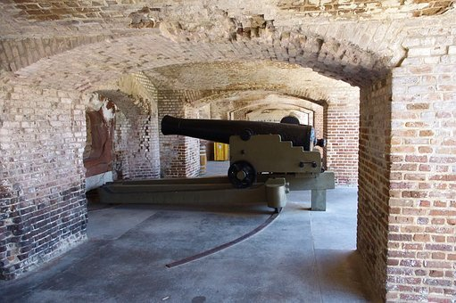 Cannon – 42 Pounder Smoothbore, Fort, Sumter, Casemate