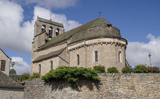 Lozère, Church, Bell Tower, Bells, Granite, Catholic