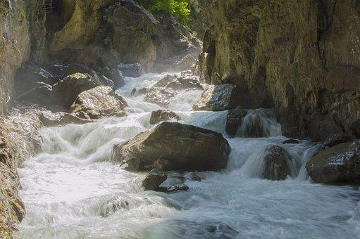 Partnachklamm, Clammy, River, Running Water, Water