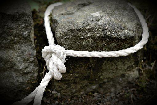 Rope, Dew, Knot, Leash, Knitting, Fixing, Close Up