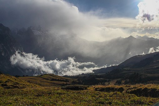 Mountains, Clouds, Sky, Landscape, Nature, Beautiful