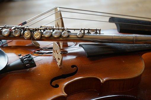 Violin, Double Bass, Flute, Sound, Concert, Listen