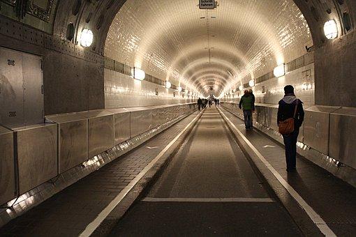 Elbe, Elbe Tunnel, Hamburg, Tunnel, Traffic, Road