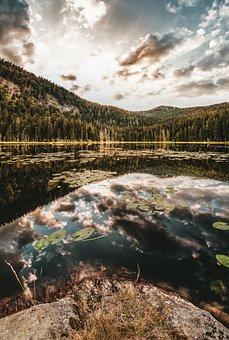Great Arber Lake, Arber, Lake, Sunset, Bavarian Forest