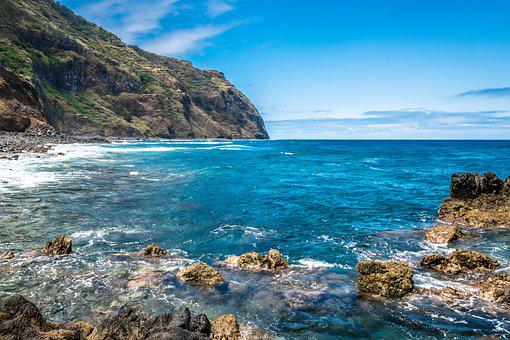 Porto Moniz, Island Wood, Mar, Summer, Ocean, Blue