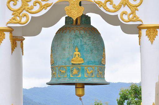Bell, Measure, Temple, Big, Thailand, Chiangrai