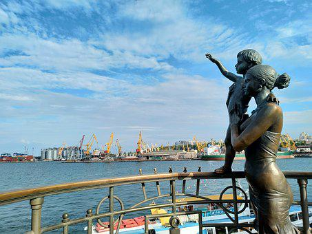 Water, Port, Sea Monument, Quay, Child, Mom, Bay, Coast