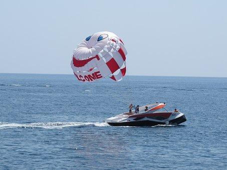Parachute, Sea, Entertainment, Water, Scooter, Banana