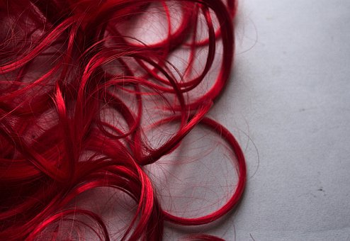 Hair, Curls, Woman, Girl, Fashion, Image, Red
