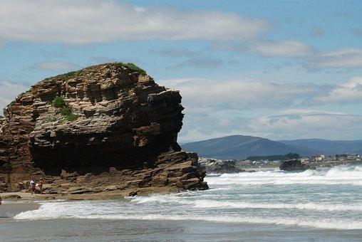 Beach, Lugo, Ribadeo, Mar, Travel, Tourism, Place