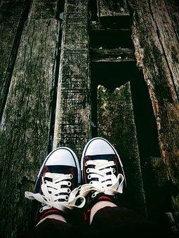 Girl, Shoe, Leg, Running