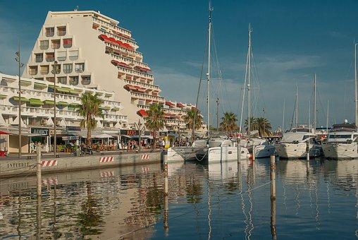 Herald, La Grande Motte, Port, Boats, Sailboats