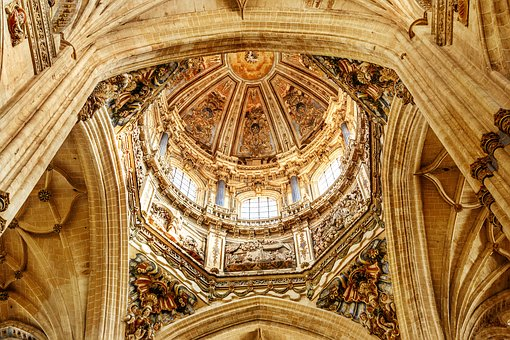 Dome, Cathedral, Salamanca, Architecture, Church