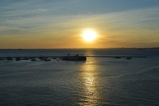 Porto, Salvador, Mar, Landscape, Ocean, Bahia, Sky