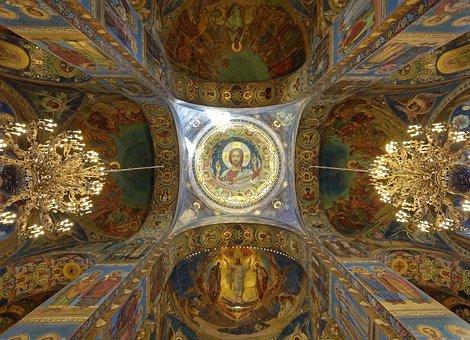 Russia, Sankt Petersburg, Church Of The Resurrection