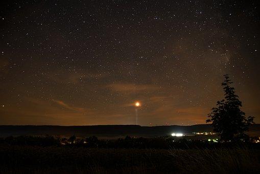 Star, Sky, Windräder, Dark, At Night, Night Sky, Mars