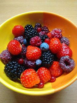Fruit, Berries, Food, Healthy, Strawberries, Fresh