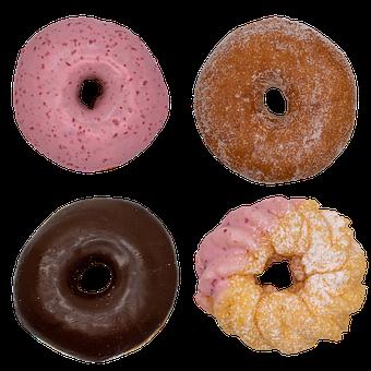 Donut, Sweet, Chocolate, Strawberry, Candy, Cream