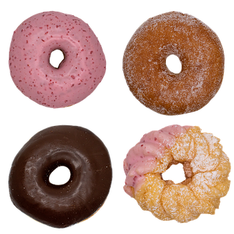 Donut, Sweet, Chocolate, Strawberry, Candy, Cream