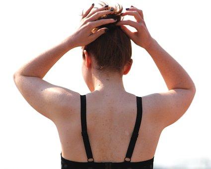 Woman, Swimsuit, Hair, Move, Girl, Beach, Model, Female
