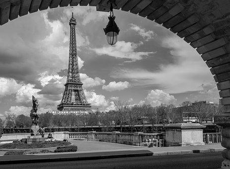 Tower, Eiffel, Paris, Seine, Bridge