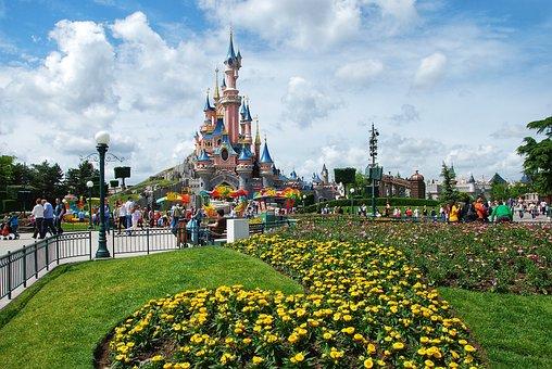 Disneyland, Paris, France, Castle, Tourism, Tower