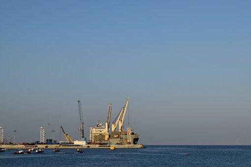 Port, Sea, Industry, Transport, Body Of Water, Water