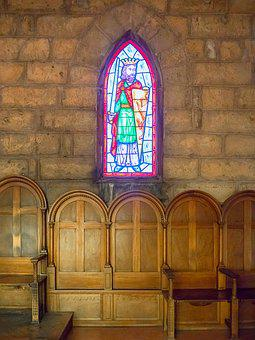 Stained Glass Window, Medieval, Castle, Church, Village