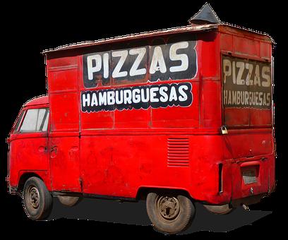 Volkswagen, Vw Bulli, T1, Rusted, Pizza Service