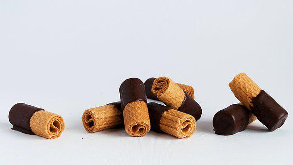 Biscuits, Waffle, Biscuit, Dessert, Plain Chocolate