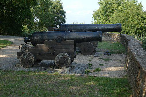 Guns, Antique, Weapon, Military, History, Cannon