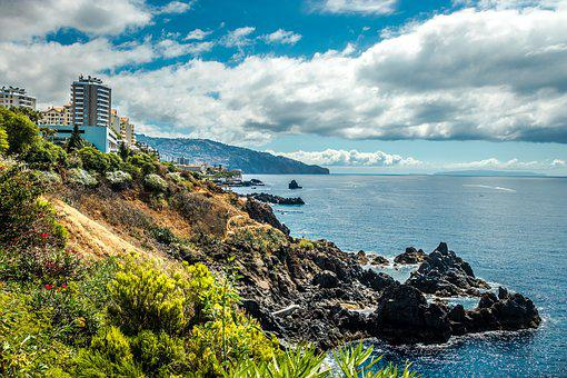 Funchal City, Wood Island, Costa, Mar, Architecture