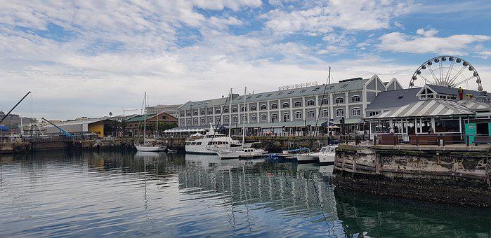 V A Waterfront, Cape Town, River, Africa, Water, Travel