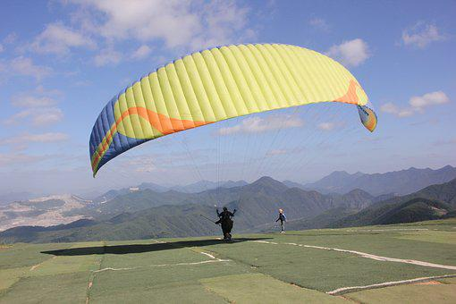 Paragliding, Leisure Sports, Flight, Sky, Air, Wind