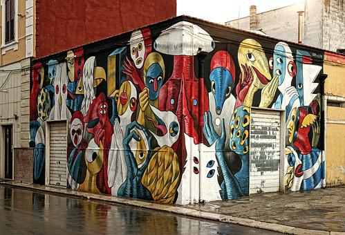 Murals, Article, Graffiti, Painting, Wall, Color